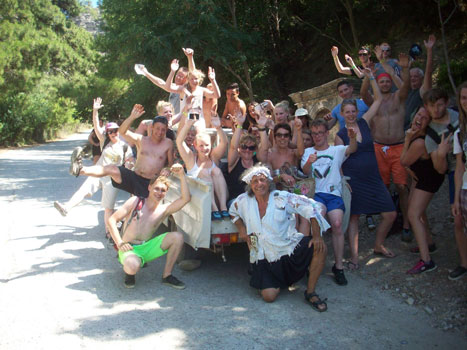 the low price for the excursion in the jungle of rhodes